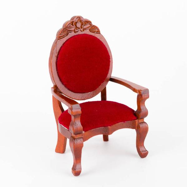 sessel mit rotem polster 4 49. Black Bedroom Furniture Sets. Home Design Ideas